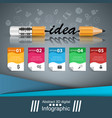 pencil education idea icon business infographic vector image