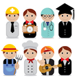 People occupations EPS10 vector image vector image