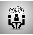 People sitting around the table t vector image