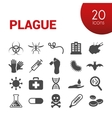 plague icons vector image vector image