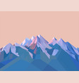 polygonal mountains vector image vector image