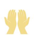 prayer hands design vector image