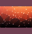 red orange purple geometric background with mesh vector image vector image