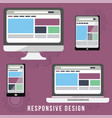 responsive design business concept vector image