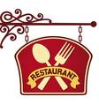 restaurant sign restaurant symbol vector image vector image