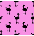 Seamless pattern Dogs on a pink background vector image