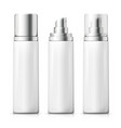 set - 3d realistic white spray bottles vector image