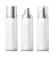 set - 3d realistic white spray bottles vector image vector image