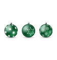 set of 3d christmas balls with decorative ornament vector image
