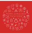 Set of christmas icons eps10 format vector image vector image