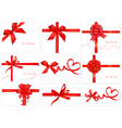 Set with beauty red bows vector | Price: 1 Credit (USD $1)