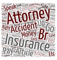 Should you hire an accident attorney text vector image vector image