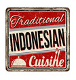 traditional indonesian cuisine vintage rusty vector image vector image