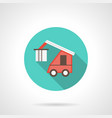 train loader blue round icon vector image vector image
