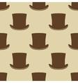Vintage cylinder hat seamless pattern vector image vector image