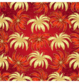 Vintage seamless pattern red-gold vector image vector image
