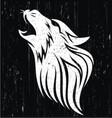 wolf head grunge vector image vector image