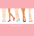 women legs with different skin and shoes vector image