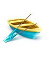 wooden fisherman boat vector image
