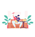 working at home freelance concept vector image vector image