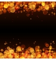 Yellow shining bokeh frame abstract background vector image vector image