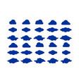 cloud icon logo set vector image