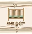 baby shower invitation design vector image