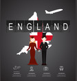 traveling to england with map of infographic vector image