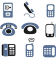 phones signs vector image