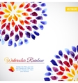 Watercolor template colorful rainbow brushstrokes vector image