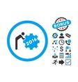 2016 Working Man Flat Icon with Bonus vector image vector image