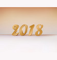 2018 gold numbers design of greeting card gold vector image