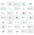Abstract company logo collection Set of vector image vector image