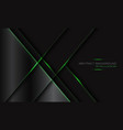 abstract dark grey metallic geometric green vector image vector image