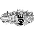 ageism in the workforce text word cloud concept vector image vector image