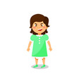 angry little girl standing kids negative emotions vector image
