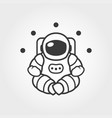 astronaut in space suit sitting in lotus pose vector image