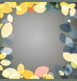 autumn leaves on dark background vector image