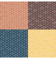 background of brick walls red yellow blue vector image