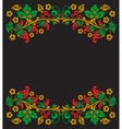 background of floral pattern with traditional vector image