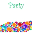 Baloons for party advertising and presentations vector image