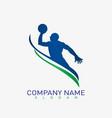basketball player logo vector image vector image
