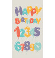 birthday party invitation card balloons numbers vector image