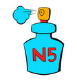 bottle chanel no5 perfume icon cartoon vector image vector image