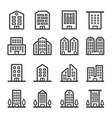 building line icon vector image vector image