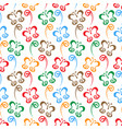 butterfly hand drawn colorful pattern background vector image vector image