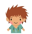 Cartoon casual little boy kid flat icon vector image