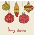 Christmas hand drawn decorative postcard with xmas vector image
