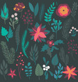 christmas seamless pattern with flowers and vector image vector image