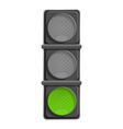 city green traffic light icon cartoon style vector image